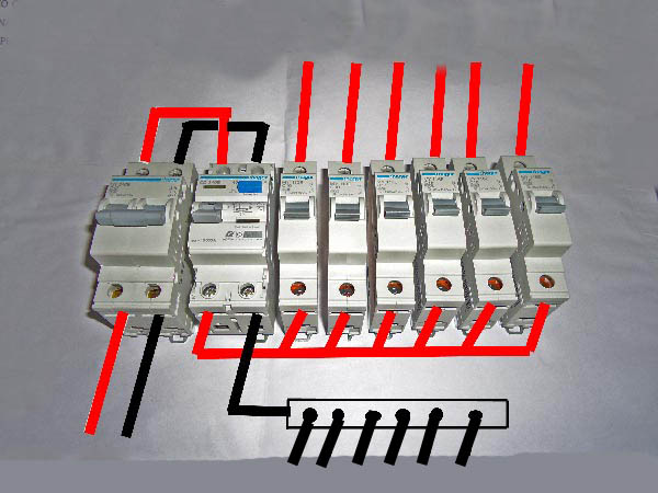 Diy wiring a consumer unit and installation distribution board this is how the connections to be done inside the consumer unit red denotes the cheapraybanclubmaster Image collections