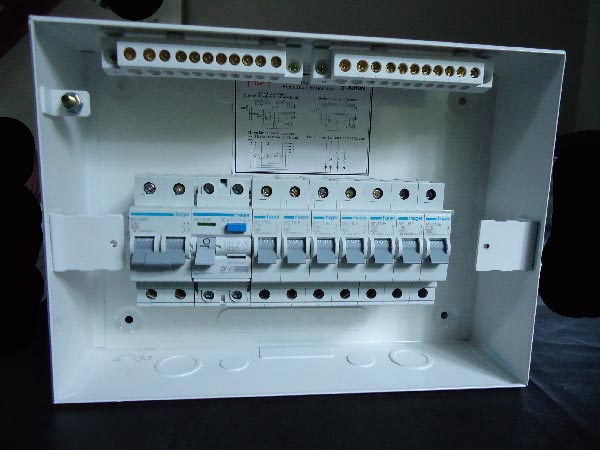Diy wiring a consumer unit and installation distribution board mcbs and the rcd fixed on to the din rail this is easily being done cheapraybanclubmaster